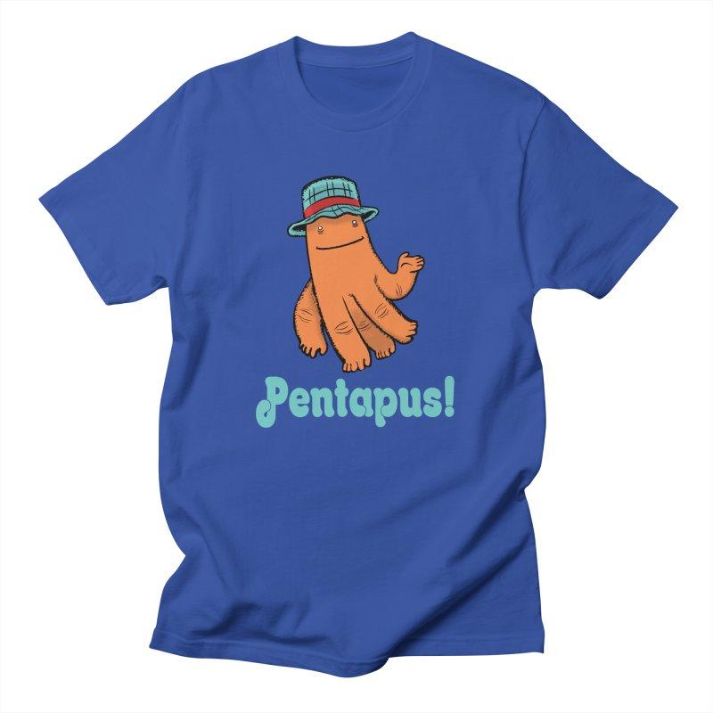 Pentapus - Orange Men's T-Shirt by The Kurdles' T-shirt Shop