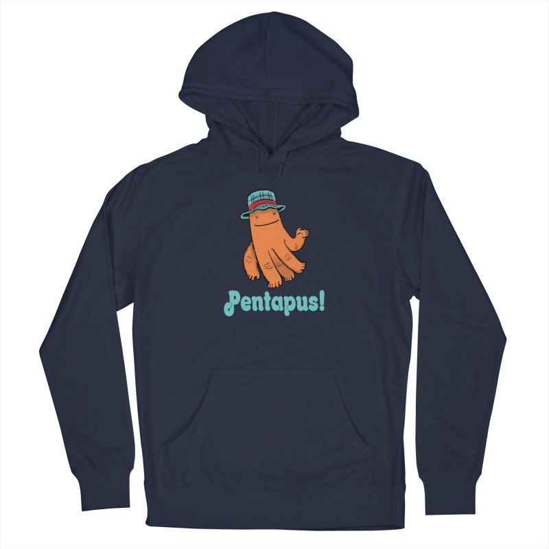 Pentapus - Orange Men's Pullover Hoody by The Kurdles' T-shirt Shop