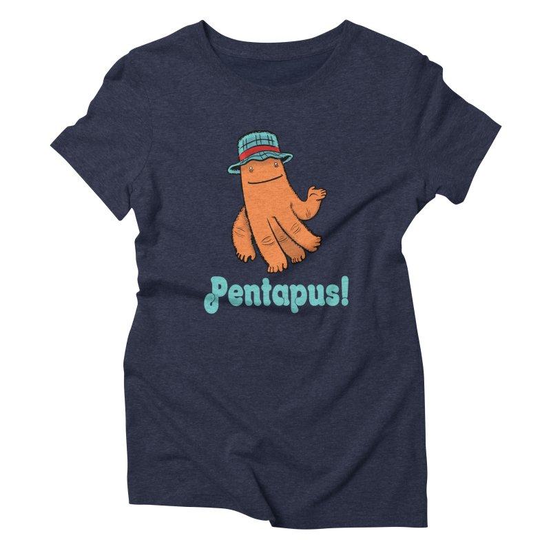 Pentapus - Orange Women's T-Shirt by The Kurdles' T-shirt Shop