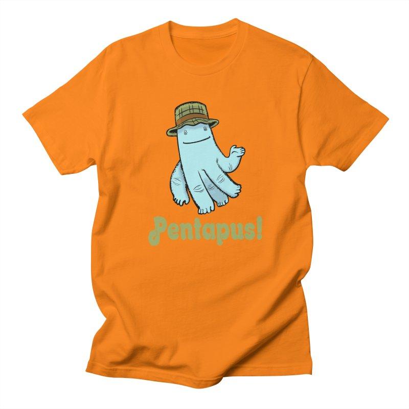 Pentapus - Blue Men's T-Shirt by The Kurdles' T-shirt Shop
