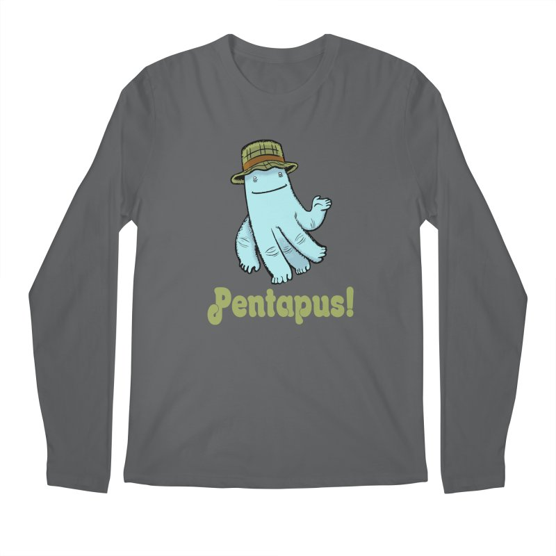 Pentapus - Blue Men's Longsleeve T-Shirt by The Kurdles' T-shirt Shop