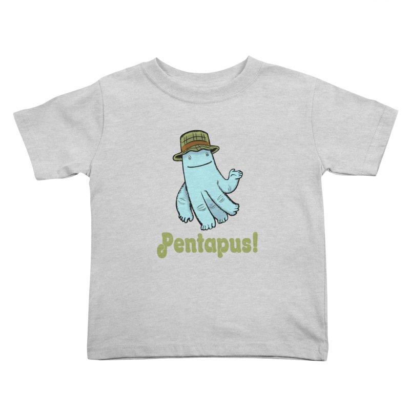 Pentapus - Blue Kids Toddler T-Shirt by The Kurdles' T-shirt Shop