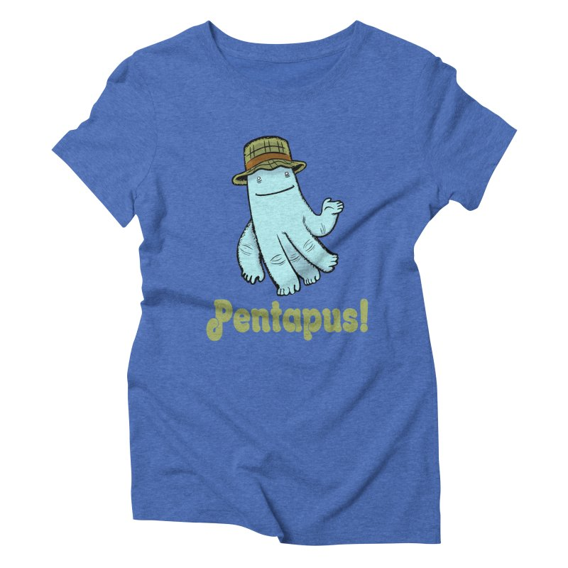 Pentapus - Blue Women's Triblend T-shirt by The Kurdles' T-shirt Shop