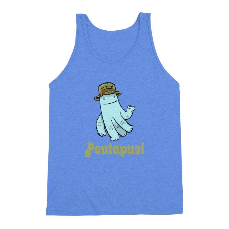 Pentapus - Blue Men's Triblend Tank by The Kurdles' T-shirt Shop