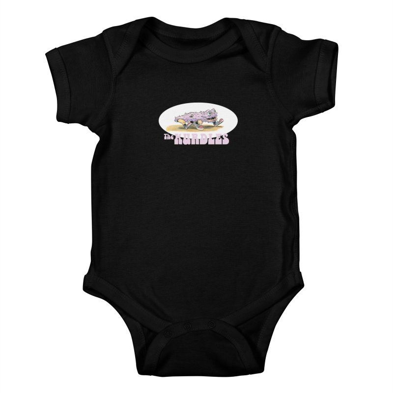 Schleb's Door Kids Baby Bodysuit by The Kurdles' T-shirt Shop