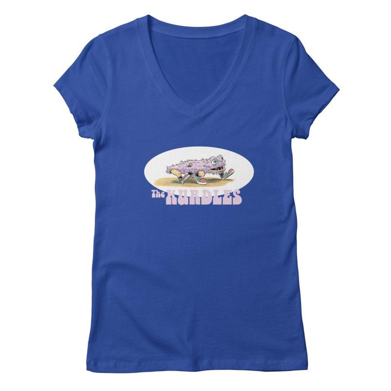Schleb's Door Women's V-Neck by The Kurdles' T-shirt Shop
