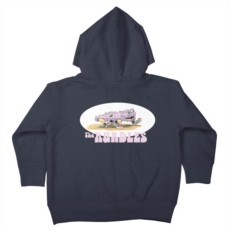 Schleb's Door Kids Toddler Zip-Up Hoody by The Kurdles' T-shirt Shop