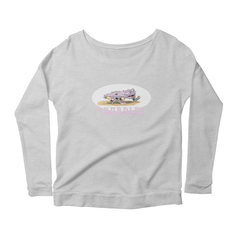 Schleb's Door Women's Longsleeve Scoopneck  by The Kurdles' T-shirt Shop