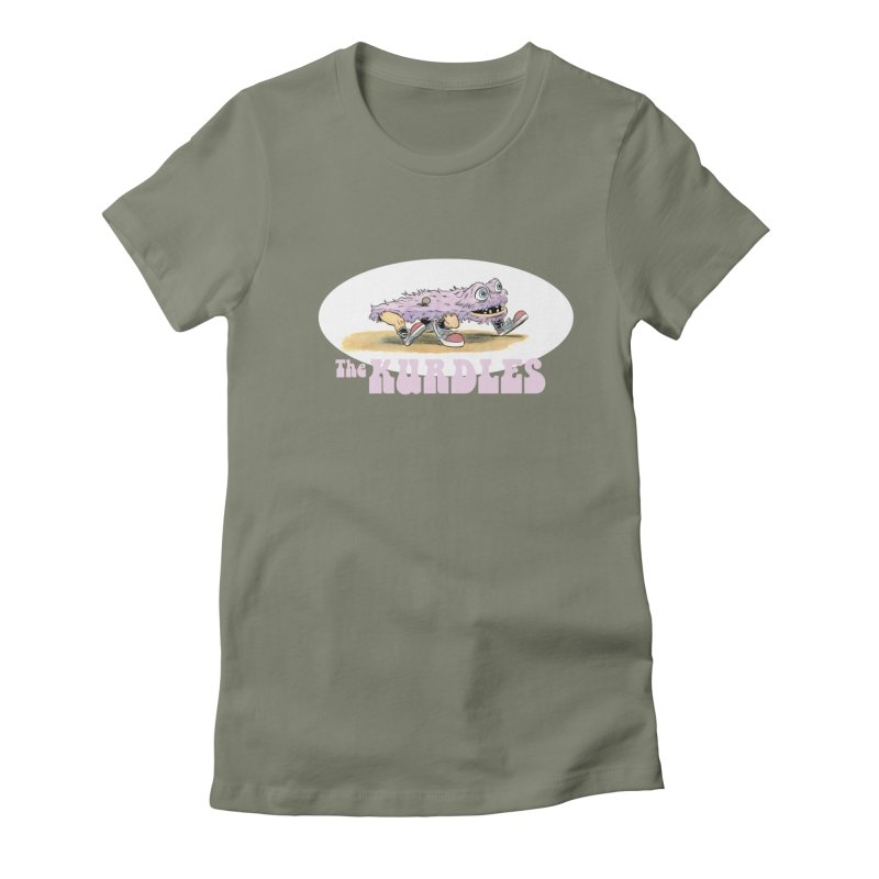 Schleb's Door Women's Fitted T-Shirt by The Kurdles' T-shirt Shop