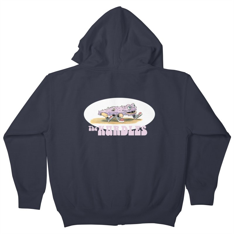 Schleb's Door Kids Zip-Up Hoody by The Kurdles' T-shirt Shop