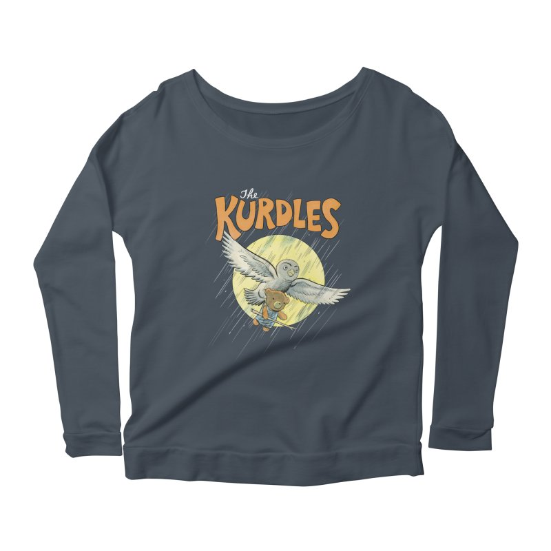 The Kurdles Women's Longsleeve Scoopneck  by The Kurdles' T-shirt Shop