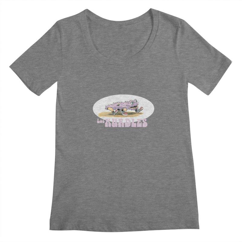 Schleb's Door (¡en español!) Women's Scoopneck by The Kurdles' T-shirt Shop