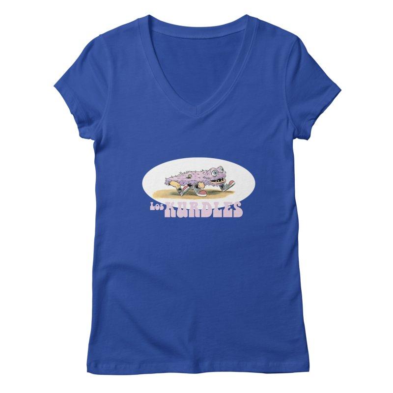 Schleb's Door (¡en español!) Women's V-Neck by The Kurdles' T-shirt Shop