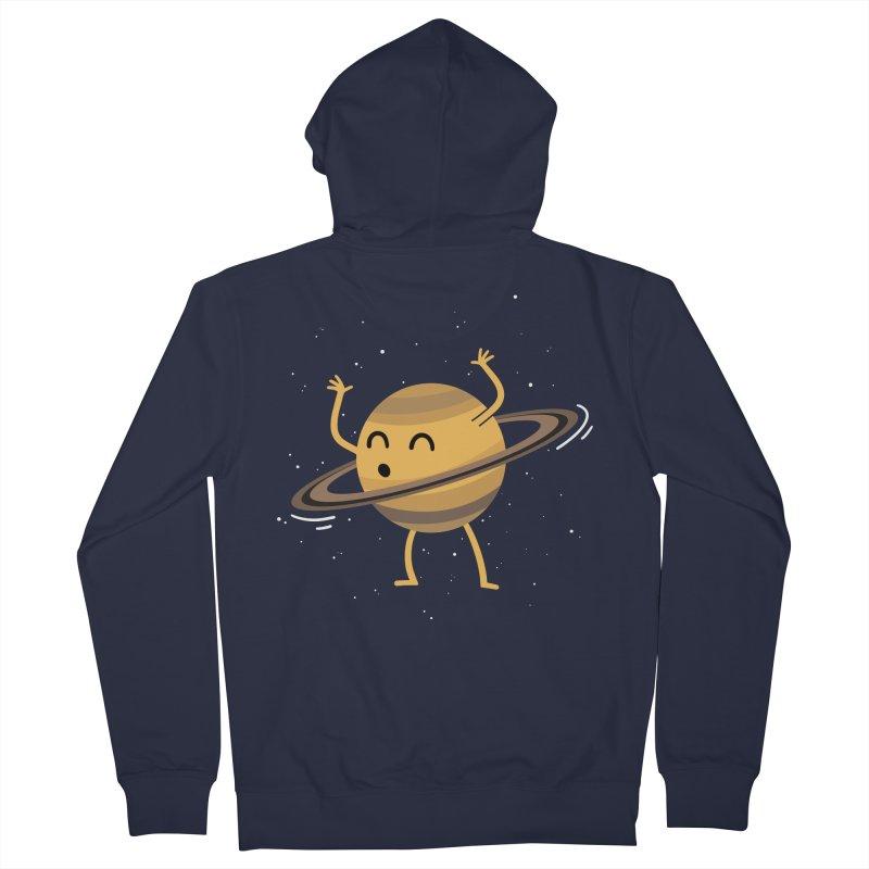 Space Hula Hoop Men's Zip-Up Hoody by Designs by Kurisquare
