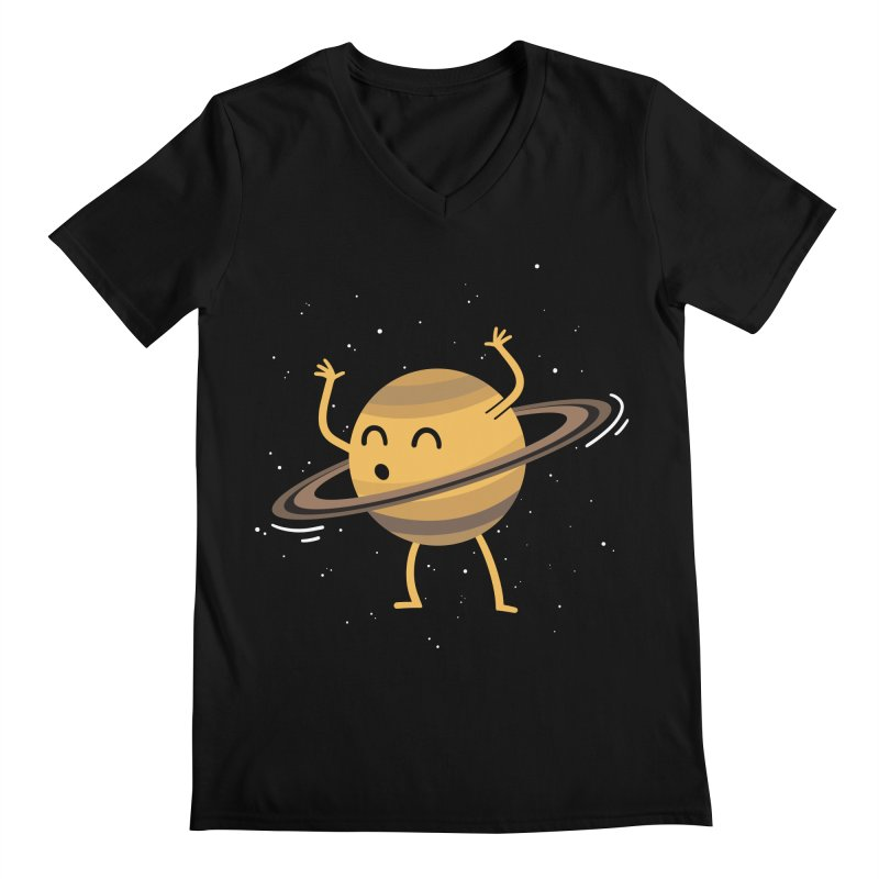 Space Hula Hoop Men's V-Neck by Designs by Kurisquare