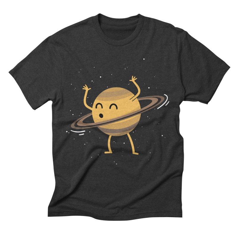 Space Hula Hoop Men's Triblend T-shirt by Designs by Kurisquare