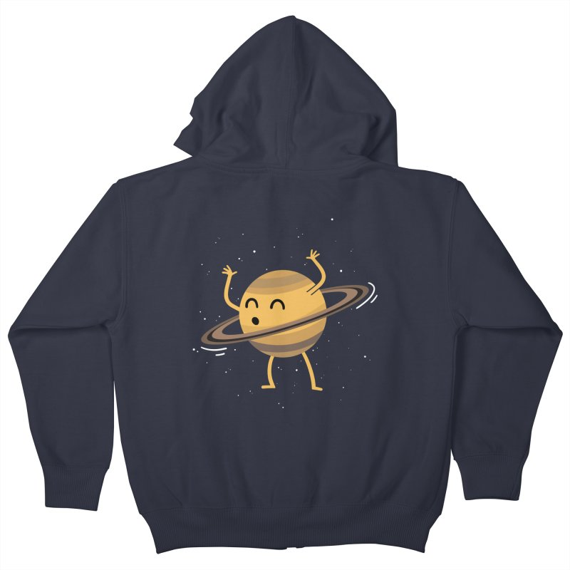 Space Hula Hoop Kids Zip-Up Hoody by Designs by Kurisquare