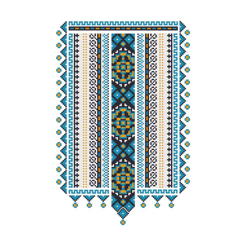 Ukrainian pattern Accessories Zip Pouch by Kurochka