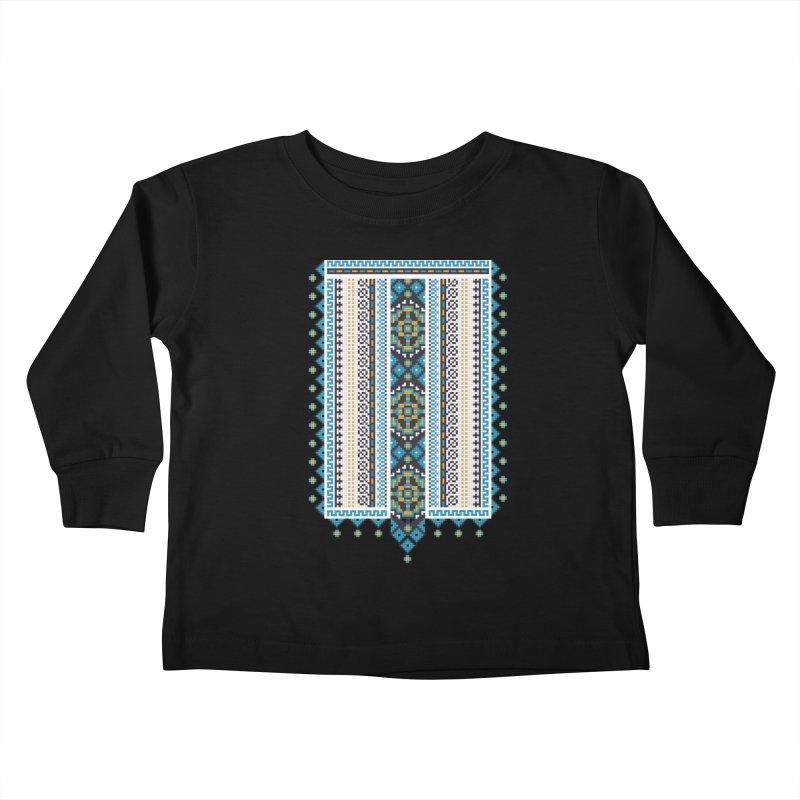 Ukrainian pattern Kids Toddler Longsleeve T-Shirt by Kurochka