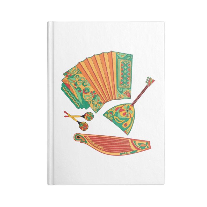 Russian Musical Instruments Accessories Notebook by Kurochka