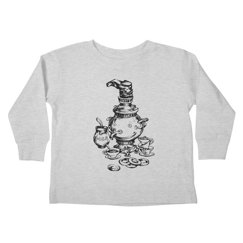 Russian Samovar Kids Toddler Longsleeve T-Shirt by Kurochka