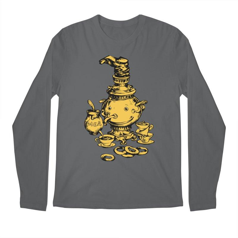 Russian Golden Samovar Men's Longsleeve T-Shirt by Kurochka