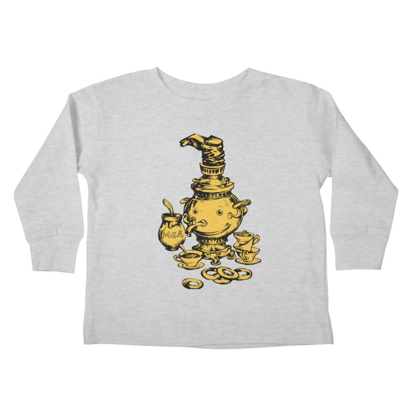 Russian Golden Samovar Kids Toddler Longsleeve T-Shirt by Kurochka