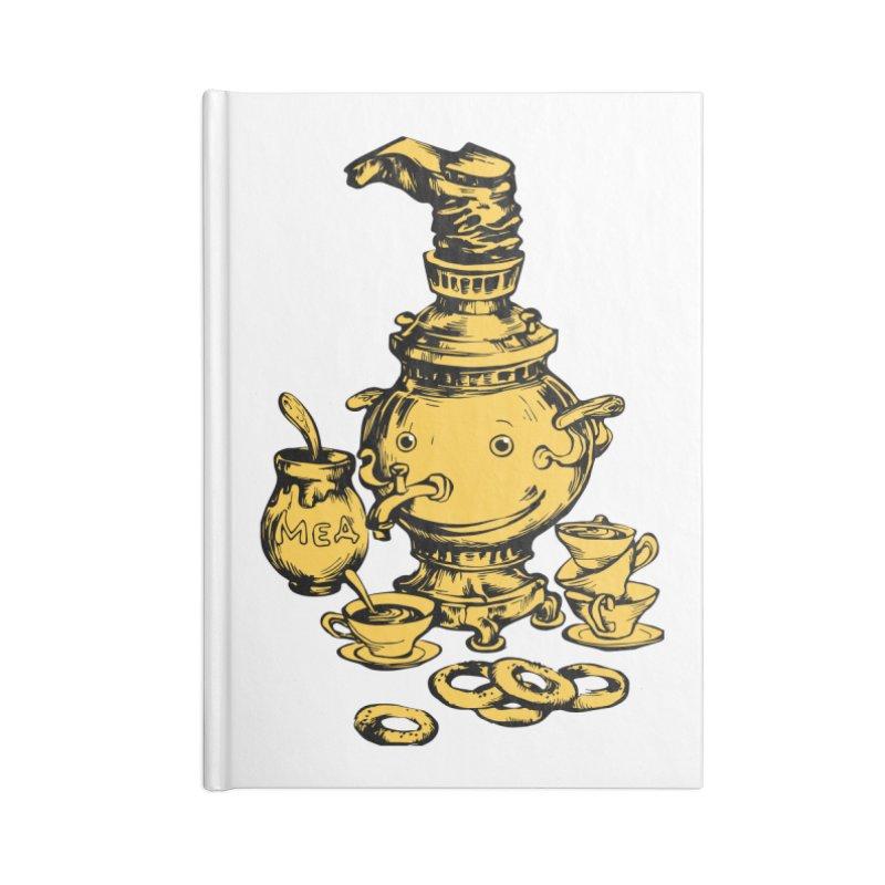 Russian Golden Samovar Accessories Notebook by Kurochka