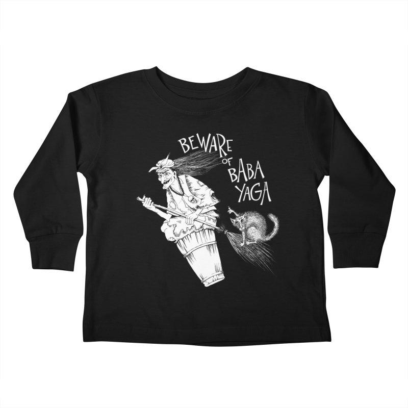Baba Yaga Kids Toddler Longsleeve T-Shirt by Kurochka