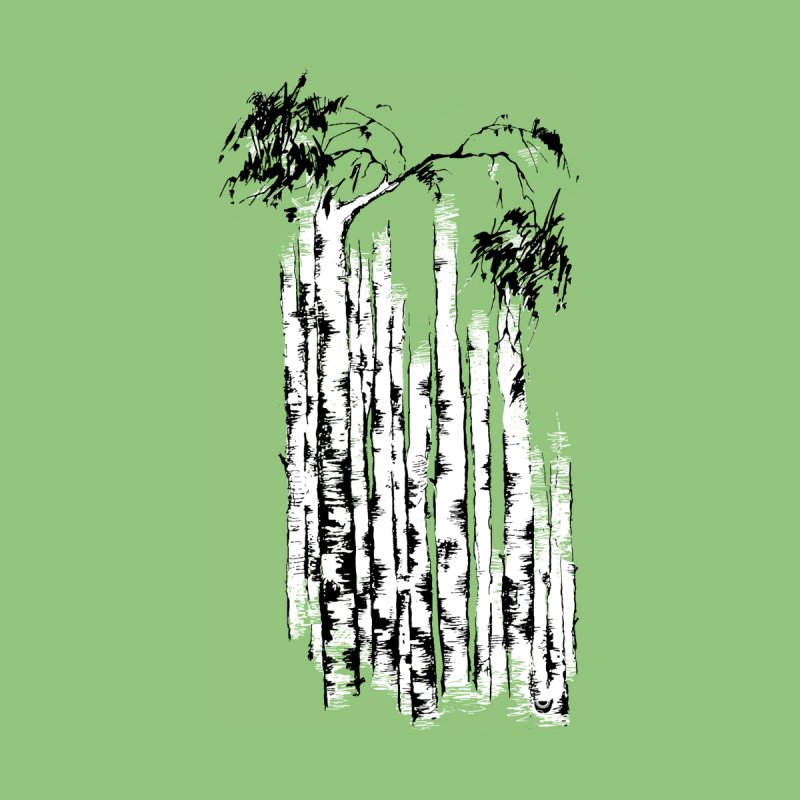 Birch Trees Men's T-Shirt by Kurochka