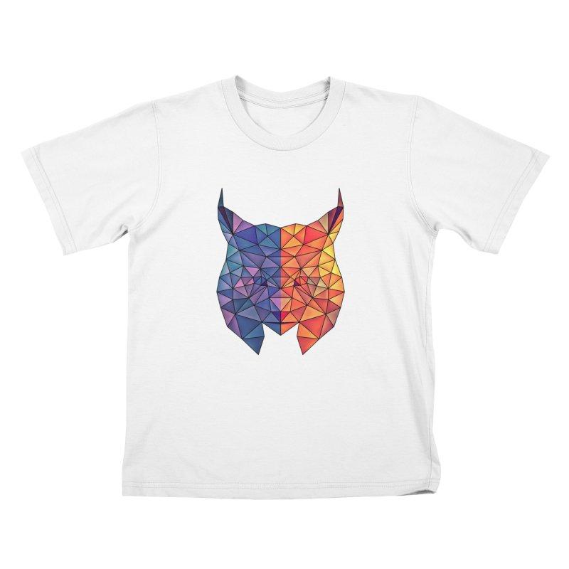 026c7548 Lynx Triangulate. Kawaii Cat Kids T-Shirt by Kuromin's Artist Shop