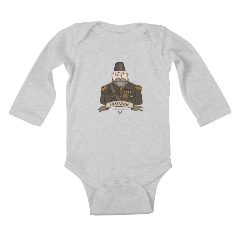 Hasanpasa, Istanbul Kids Baby Longsleeve Bodysuit by Kürşat Ünsal's Artist Shop