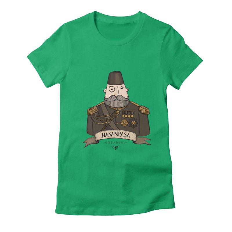 Hasanpasa, Istanbul Women's Fitted T-Shirt by Kürşat Ünsal's Artist Shop