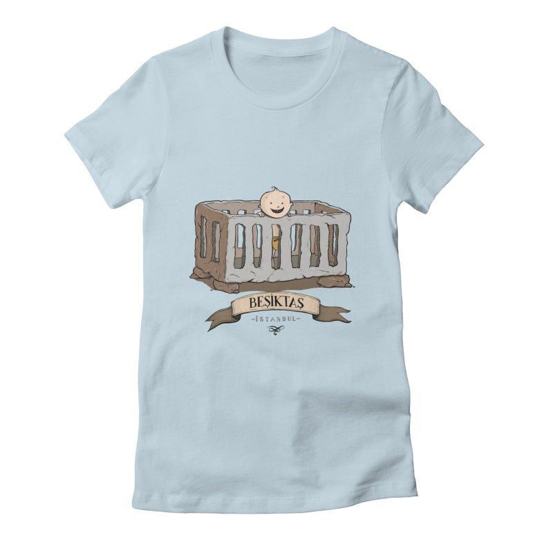 Besiktas, Istanbul Women's Fitted T-Shirt by Kürşat Ünsal's Artist Shop