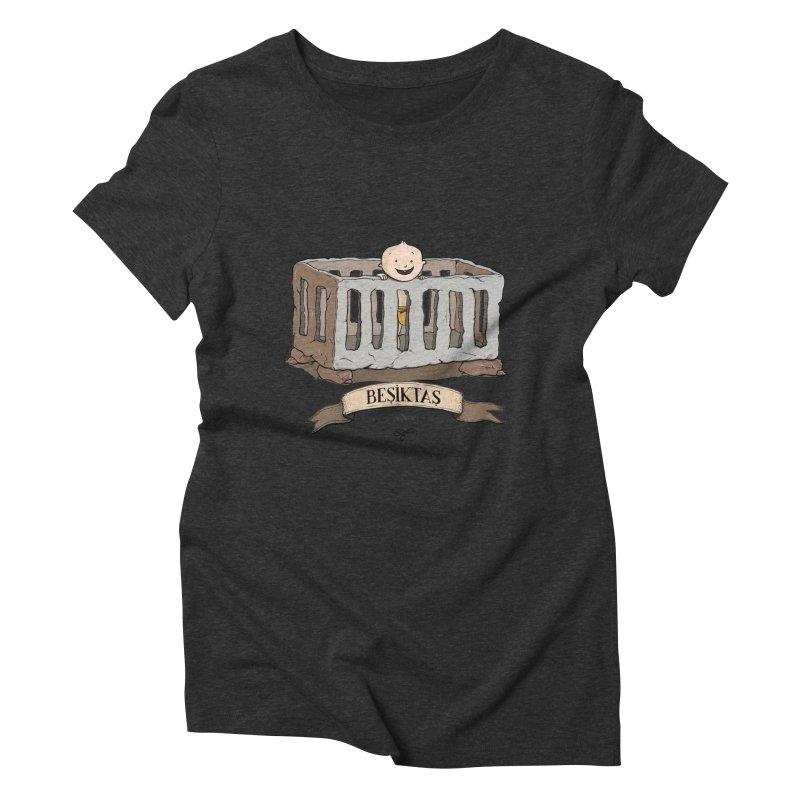 Besiktas, Istanbul Women's Triblend T-shirt by Kürşat Ünsal's Artist Shop