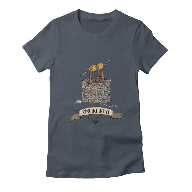 Zincirlikuyu, Istanbul Women's Fitted T-Shirt by Kürşat Ünsal's Artist Shop