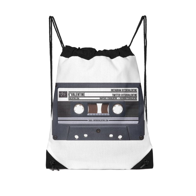 KASSETTE TIZ-APE Accessories Drawstring Bag Bag by K'Valentine's Artist Shop