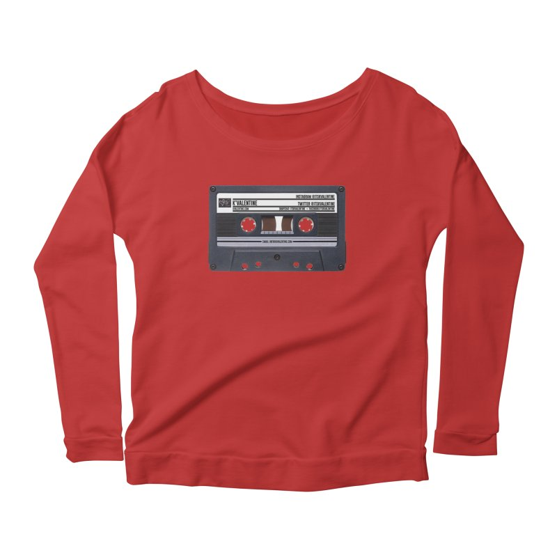 KASSETTE TIZ-APE Women's Scoop Neck Longsleeve T-Shirt by K'Valentine's Artist Shop