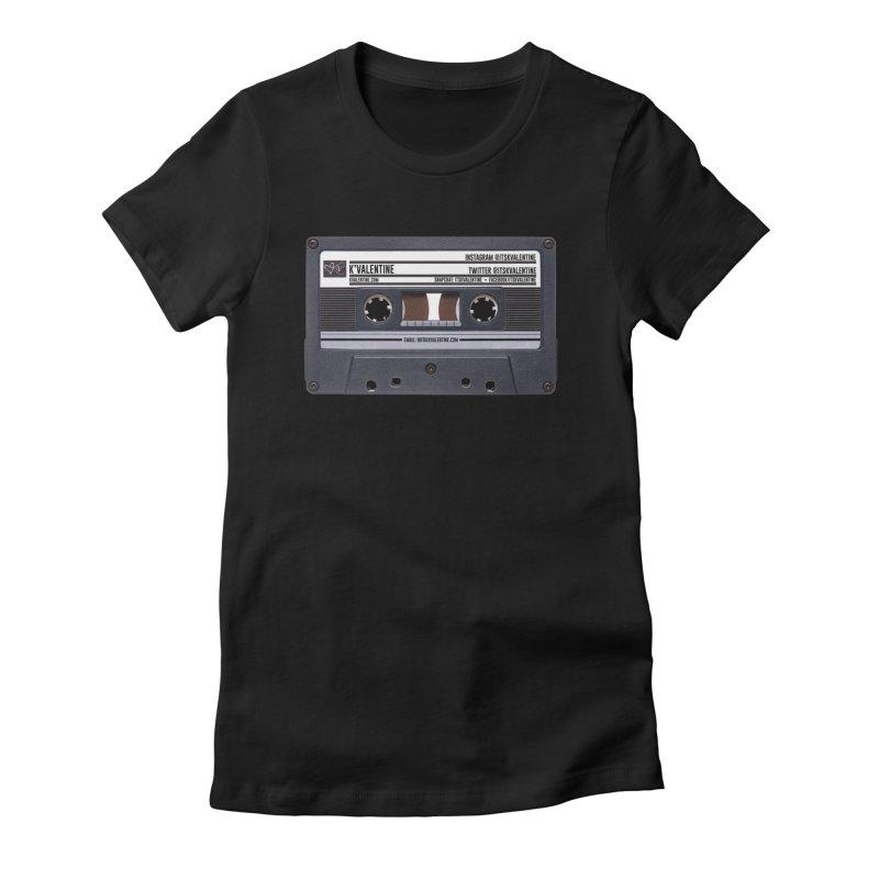 KASSETTE TIZ-APE Women's Fitted T-Shirt by K'Valentine's Artist Shop