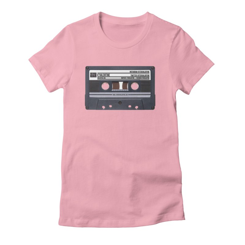 KASSETTE TIZ-APE in Women's Fitted T-Shirt Light Pink by K'Valentine's Artist Shop
