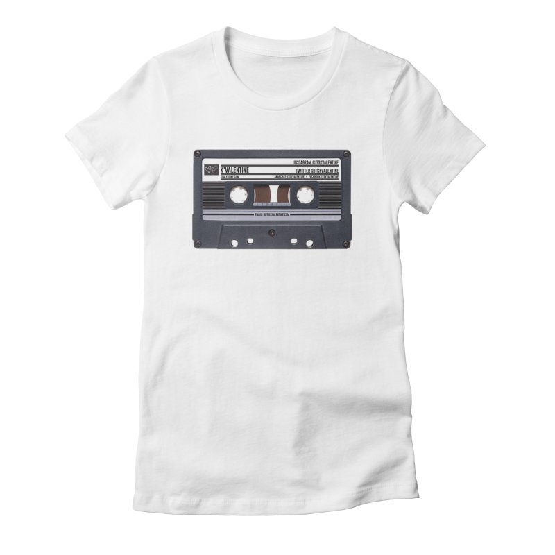 KASSETTE TIZ-APE Women's Fitted T-Shirt by K'Valentine's Artist Shop