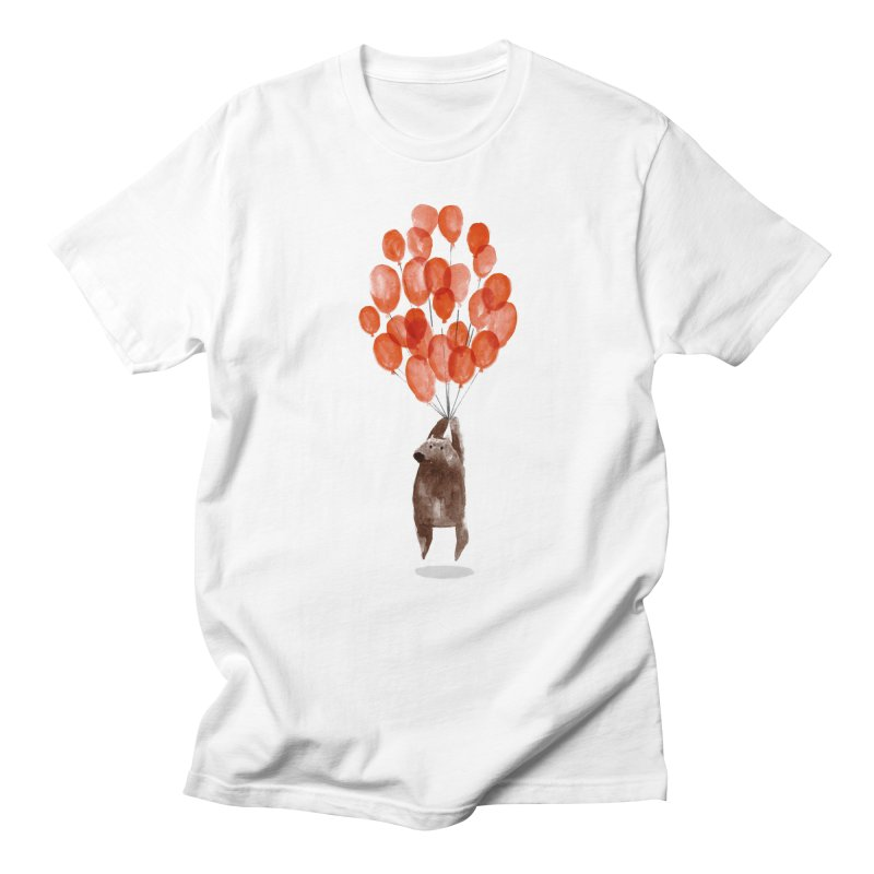 Red Balloons Men's T-Shirt by Ohufu