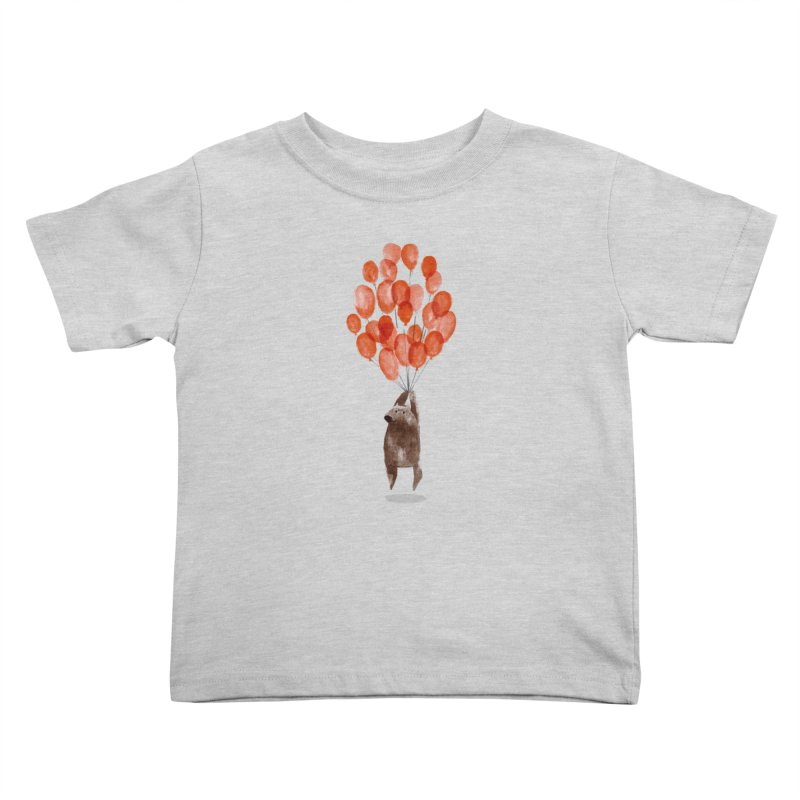 Red Balloons Kids Toddler T-Shirt by Ohufu