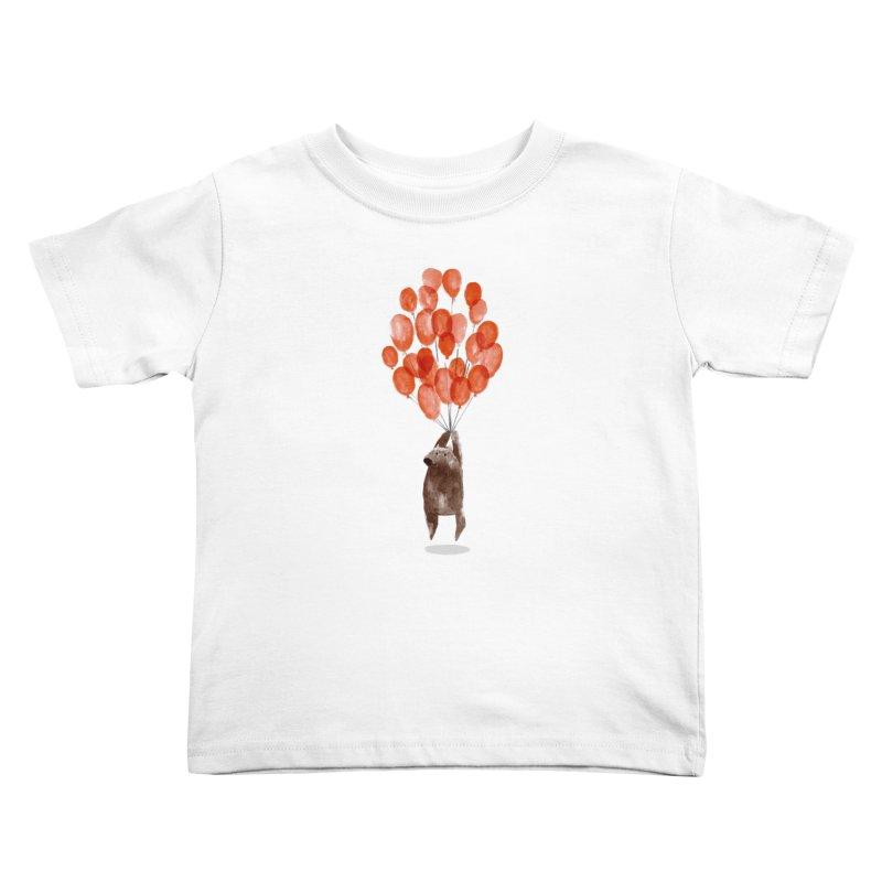 Red Balloons Kids Toddler T-Shirt by Ohufu