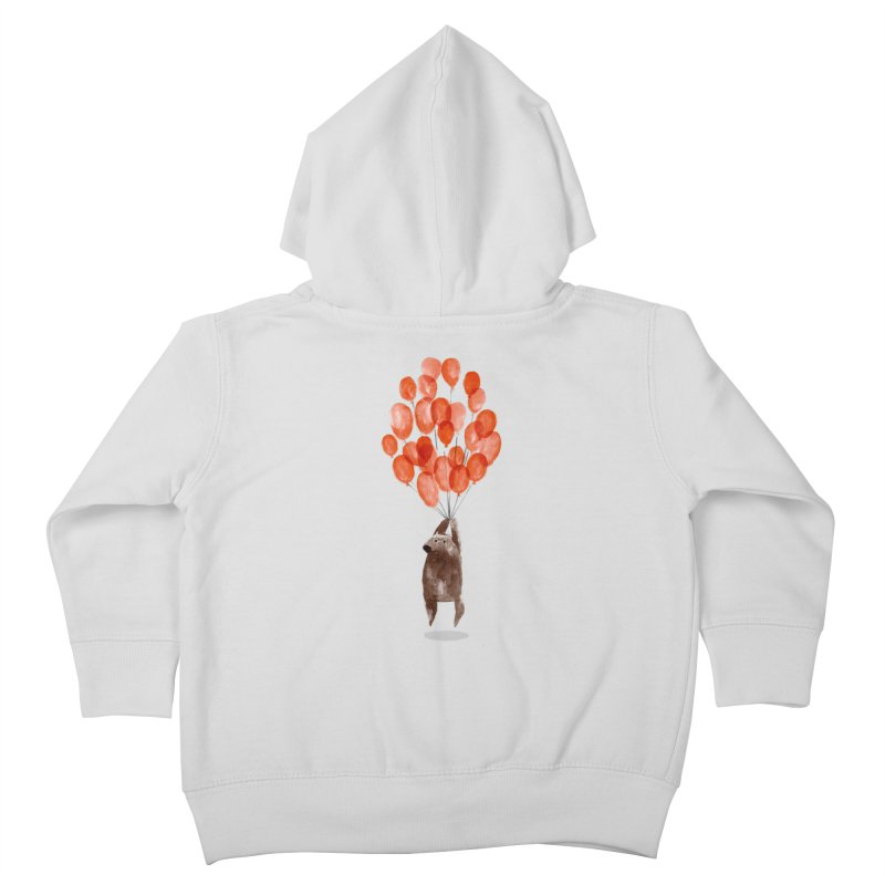 Red Balloons Kids Toddler Zip-Up Hoody by Ohufu