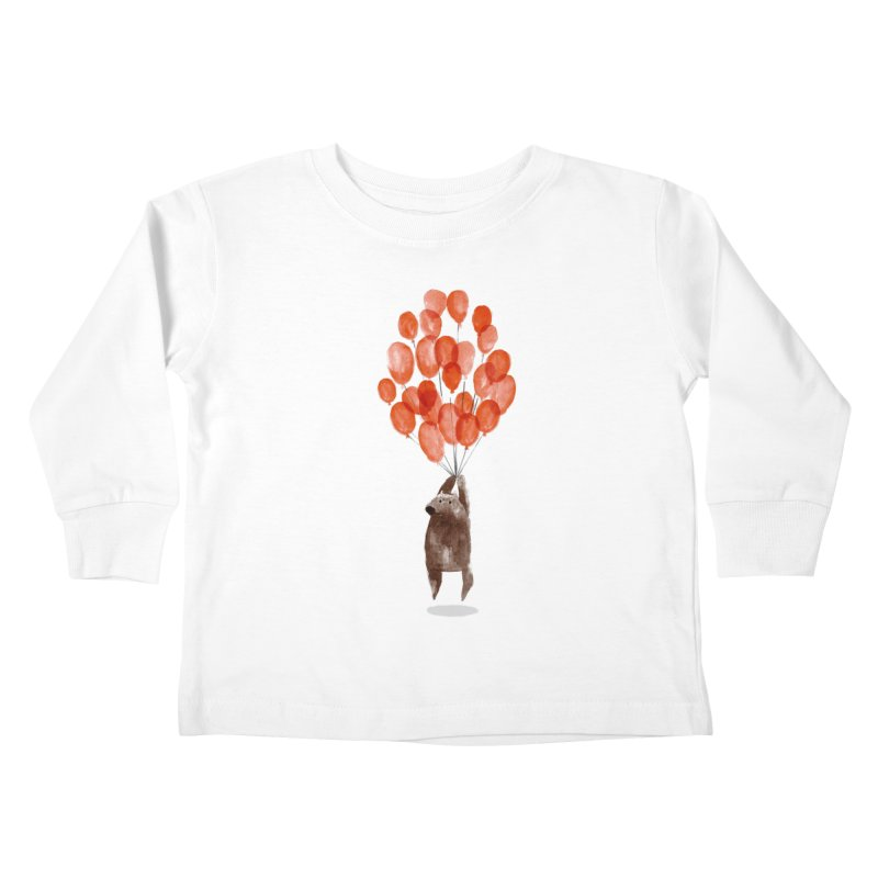 Red Balloons Kids Toddler Longsleeve T-Shirt by Ohufu