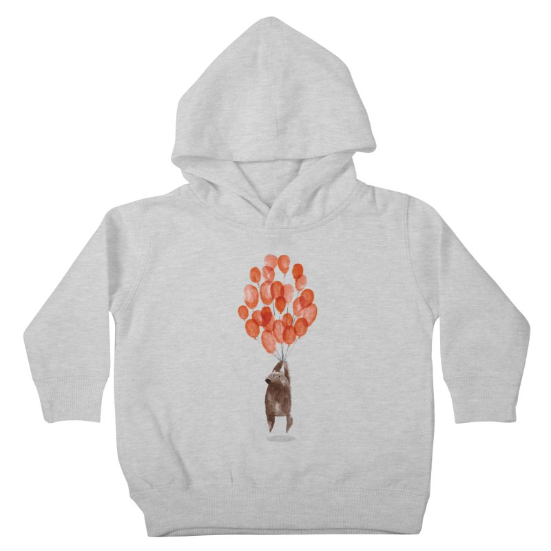 Red Balloons Kids Toddler Pullover Hoody by Ohufu