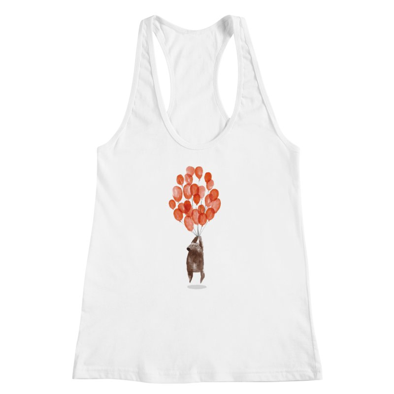 Red Balloons Women's Racerback Tank by Ohufu