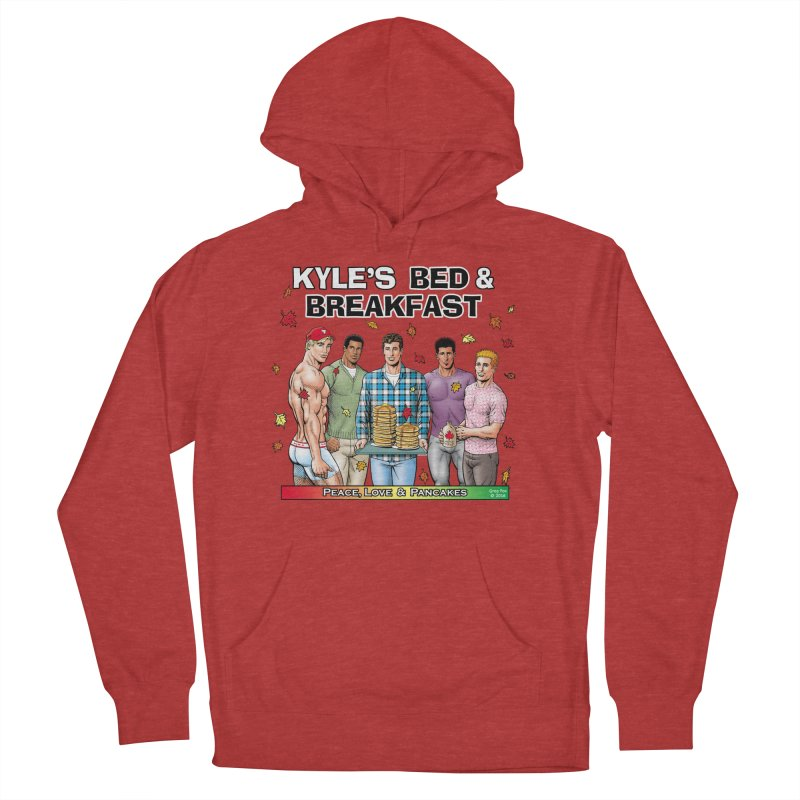Peace, Love & Pancakes! Men's Pullover Hoody by Kyle's Bed & Breakfast Fine Clothing & Gifts Shop