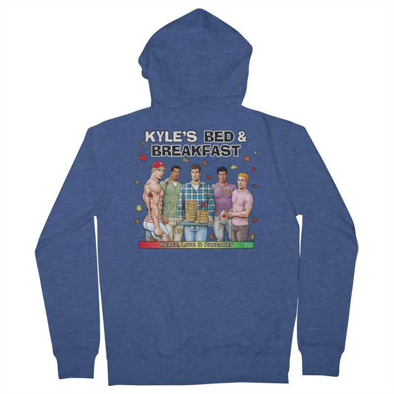 Peace, Love & Pancakes! Women's Zip-Up Hoody by Kyle's Bed & Breakfast Fine Clothing & Gifts Shop